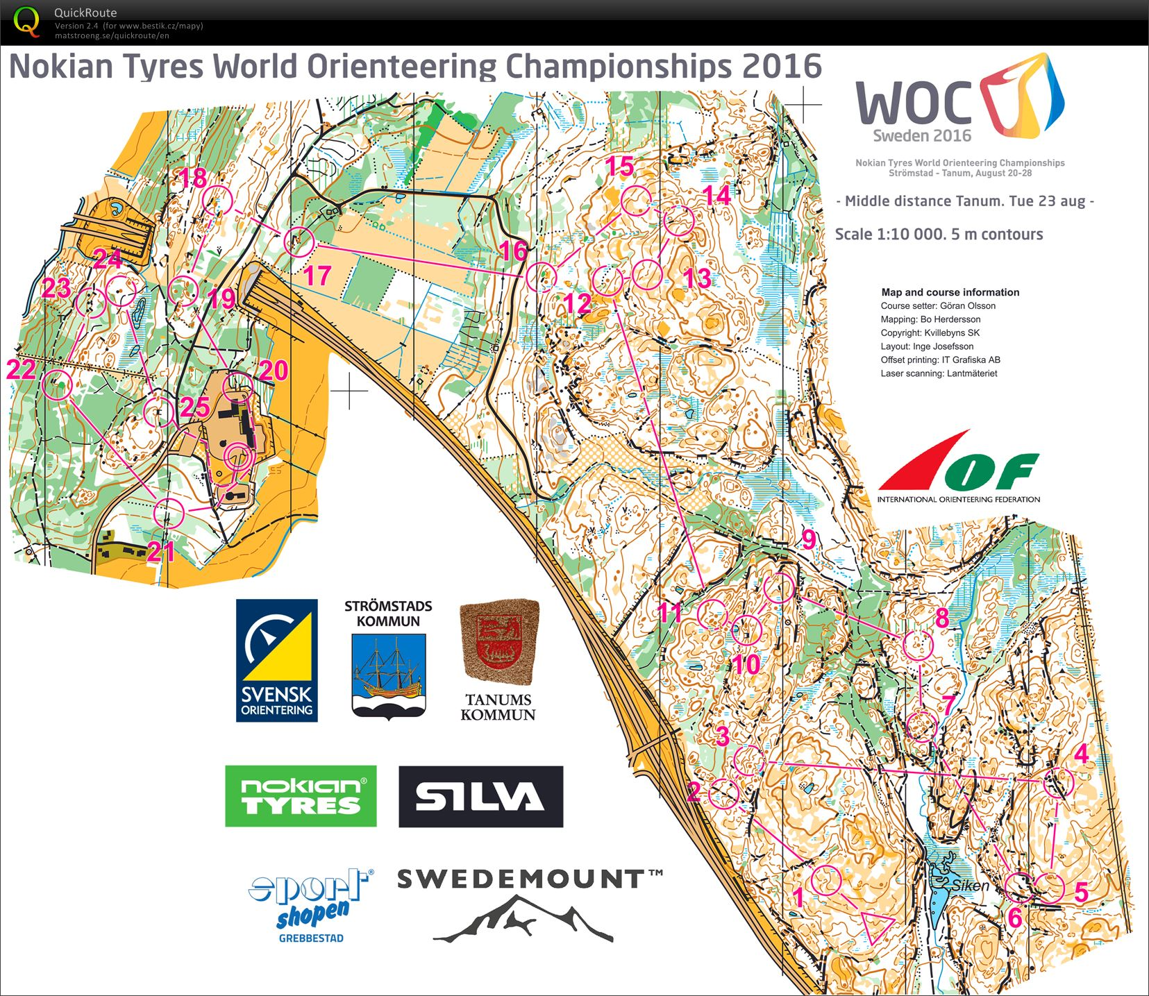 WOC 2016 middle (24.08.2016)
