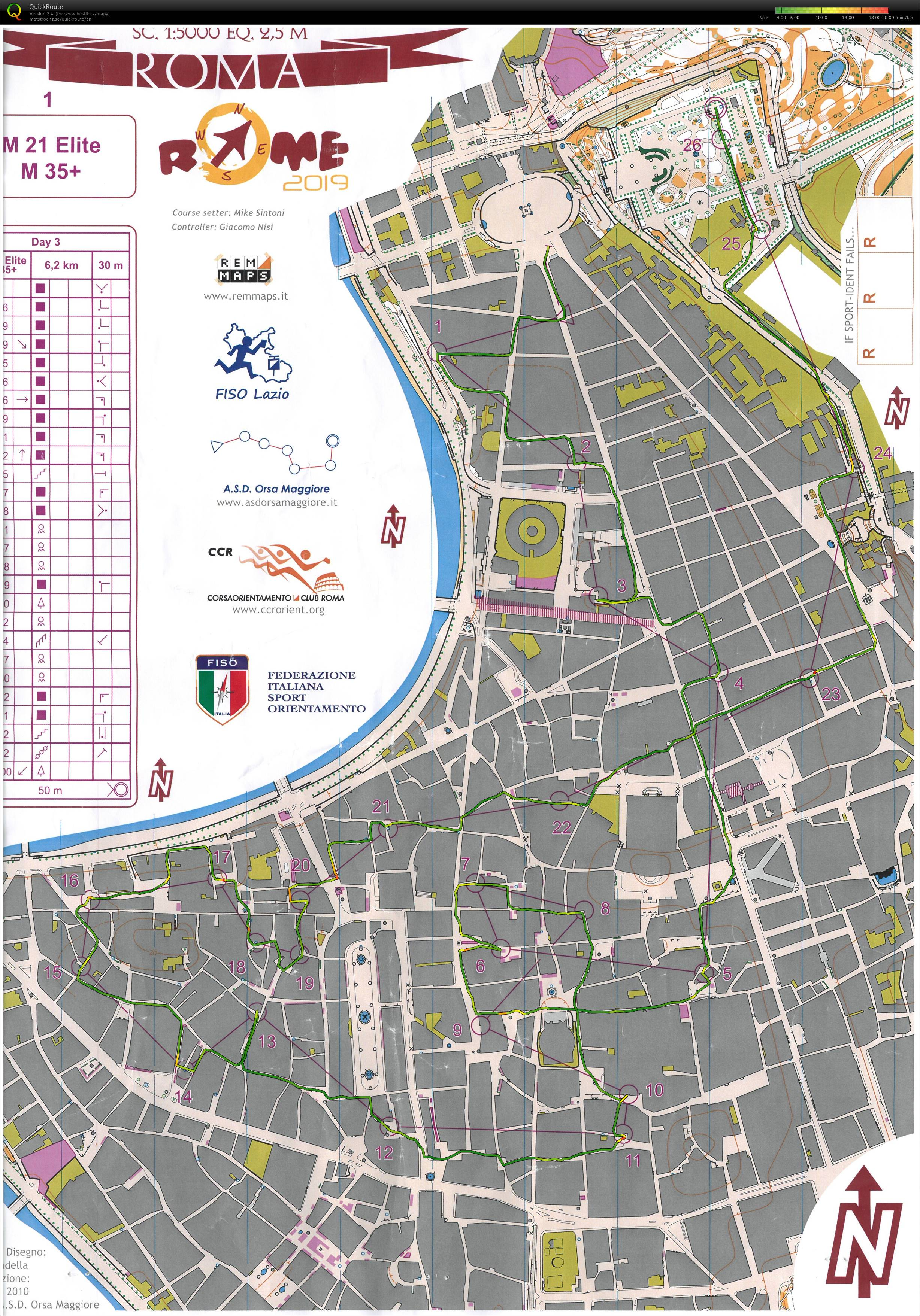 Rome Orienteering Meeting, E3 (03.11.2019)